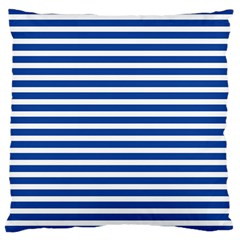 Horizontal Stripes Dark Blue Large Cushion Case (one Side) by Mariart