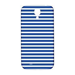 Horizontal Stripes Dark Blue Samsung Galaxy S4 I9500/i9505  Hardshell Back Case by Mariart