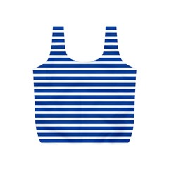 Horizontal Stripes Dark Blue Full Print Recycle Bags (s)  by Mariart