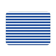 Horizontal Stripes Dark Blue Double Sided Flano Blanket (mini)  by Mariart