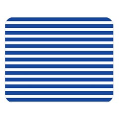 Horizontal Stripes Dark Blue Double Sided Flano Blanket (large)  by Mariart