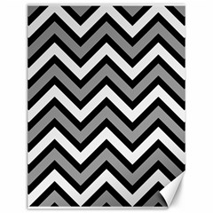 Zig Zags Pattern Canvas 12  X 16   by Valentinaart