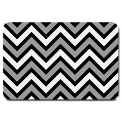Zig Zags Pattern Large Doormat  by Valentinaart