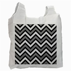 Zig Zags Pattern Recycle Bag (two Side)  by Valentinaart