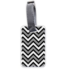 Zig Zags Pattern Luggage Tags (one Side)  by Valentinaart
