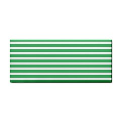 Horizontal Stripes Green Cosmetic Storage Cases by Mariart