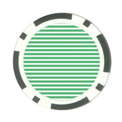 Horizontal Stripes Green Poker Chip Card Guard (10 Pack) by Mariart