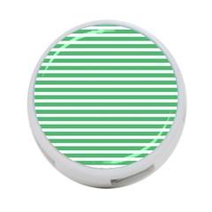 Horizontal Stripes Green 4 Port Usb Hub (one Side) by Mariart