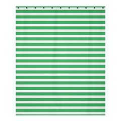 Horizontal Stripes Green Shower Curtain 60  X 72  (medium)  by Mariart