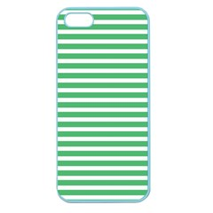Horizontal Stripes Green Apple Seamless Iphone 5 Case (color) by Mariart