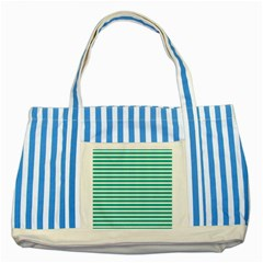 Horizontal Stripes Green Teal Striped Blue Tote Bag by Mariart