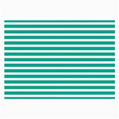 Horizontal Stripes Green Teal Large Glasses Cloth (2 Side) by Mariart