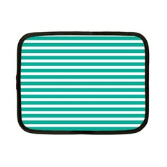 Horizontal Stripes Green Teal Netbook Case (small)  by Mariart