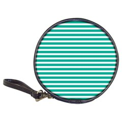 Horizontal Stripes Green Teal Classic 20 Cd Wallets by Mariart