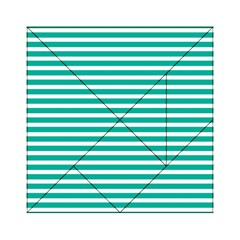 Horizontal Stripes Green Teal Acrylic Tangram Puzzle (6  X 6 ) by Mariart