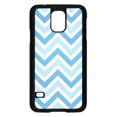 Zig Zags Pattern Samsung Galaxy S5 Case (black) by Valentinaart