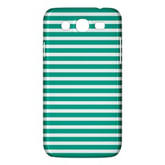 Horizontal Stripes Green Teal Samsung Galaxy Mega 5 8 I9152 Hardshell Case  by Mariart