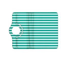 Horizontal Stripes Green Teal Kindle Fire Hd (2013) Flip 360 Case by Mariart