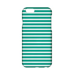 Horizontal Stripes Green Teal Apple Iphone 6/6s Hardshell Case by Mariart
