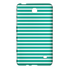 Horizontal Stripes Green Teal Samsung Galaxy Tab 4 (8 ) Hardshell Case  by Mariart
