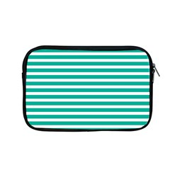 Horizontal Stripes Green Teal Apple Macbook Pro 13  Zipper Case by Mariart