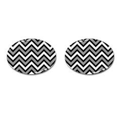 Zig Zags Pattern Cufflinks (oval) by Valentinaart