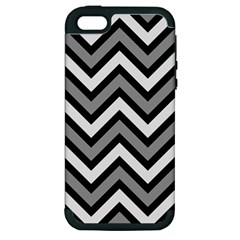Zig Zags Pattern Apple Iphone 5 Hardshell Case (pc+silicone) by Valentinaart