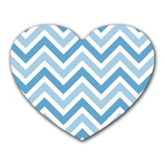 Zig Zags Pattern Heart Mousepads by Valentinaart