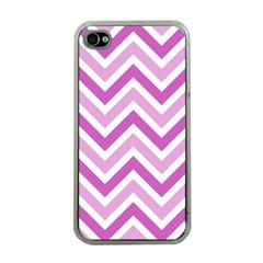 Zig Zags Pattern Apple Iphone 4 Case (clear) by Valentinaart