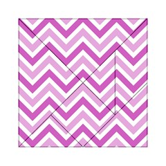 Zig Zags Pattern Acrylic Tangram Puzzle (6  X 6 ) by Valentinaart