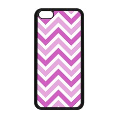 Zig Zags Pattern Apple Iphone 5c Seamless Case (black) by Valentinaart