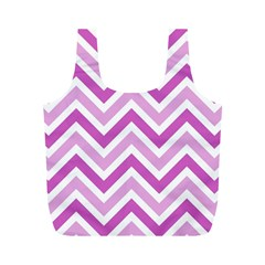 Zig Zags Pattern Full Print Recycle Bags (m)  by Valentinaart