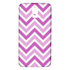Zig Zags Pattern Samsung Galaxy S5 Back Case (white) by Valentinaart