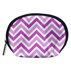 Zig Zags Pattern Accessory Pouches (medium)  by Valentinaart