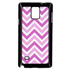 Zig Zags Pattern Samsung Galaxy Note 4 Case (black) by Valentinaart