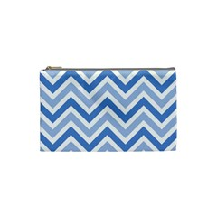 Zig Zags Pattern Cosmetic Bag (small)  by Valentinaart