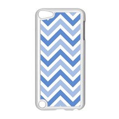Zig Zags Pattern Apple Ipod Touch 5 Case (white) by Valentinaart