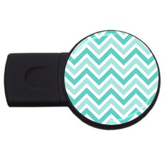 Zig Zags Pattern Usb Flash Drive Round (4 Gb) by Valentinaart
