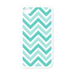 Zig Zags Pattern Apple Iphone 4 Case (white) by Valentinaart