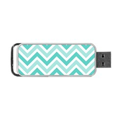 Zig Zags Pattern Portable Usb Flash (one Side) by Valentinaart