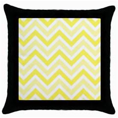 Zig Zags Pattern Throw Pillow Case (black) by Valentinaart