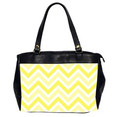 Zig Zags Pattern Office Handbags (2 Sides)  by Valentinaart