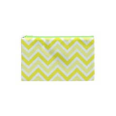 Zig Zags Pattern Cosmetic Bag (xs) by Valentinaart
