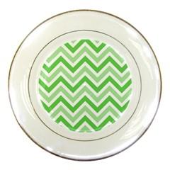 Zig Zags Pattern Porcelain Plates by Valentinaart