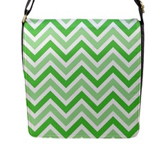 Zig Zags Pattern Flap Messenger Bag (l)  by Valentinaart