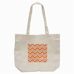 Zig Zags Pattern Tote Bag (cream) by Valentinaart