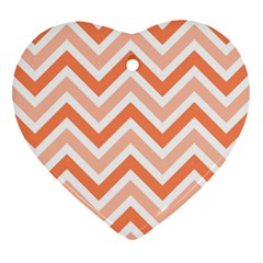 Zig Zags Pattern Heart Ornament (two Sides) by Valentinaart