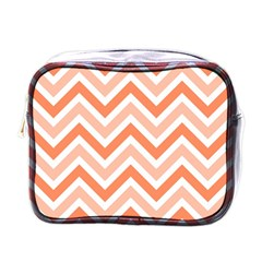 Zig Zags Pattern Mini Toiletries Bags by Valentinaart
