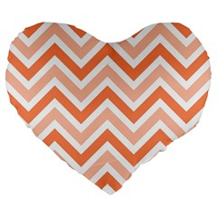 Zig Zags Pattern Large 19  Premium Heart Shape Cushions by Valentinaart
