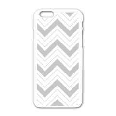 Zig Zags Pattern Apple Iphone 6/6s White Enamel Case by Valentinaart